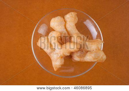 Deep Fried Dough Stick On Background