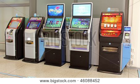 Row Of Slot Machines
