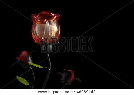 Rose candle decoration
