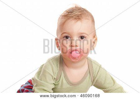 Innocence Boy With A Baby's Dummy
