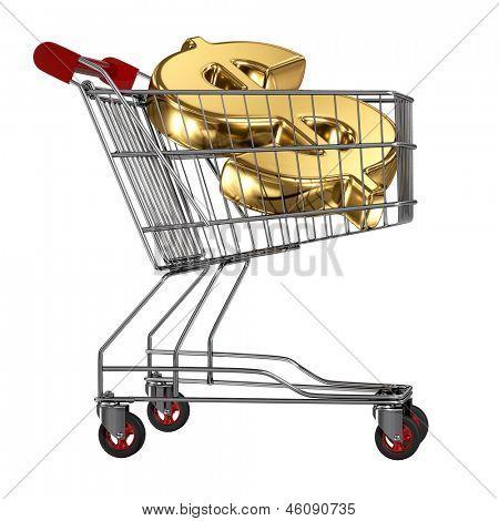 Buying golden dollar in shopping cart