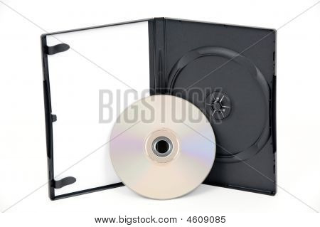 Open White Dvd Case With A Silver Dvd