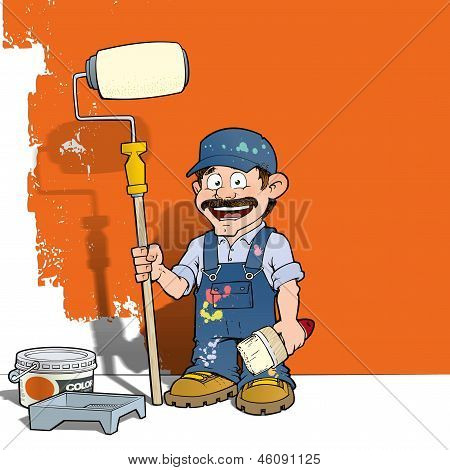 Handyman - Wall Painter Blue