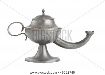Oil Lamp Isolated On White