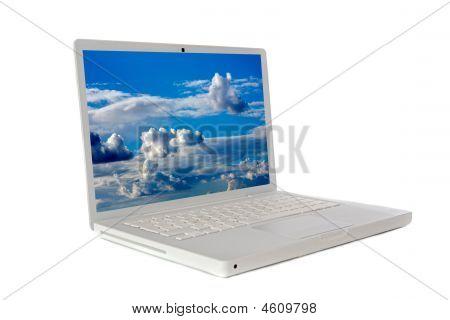 Laptop Computer Sideways