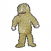 image of bigfoot  - cartoon bigfoot - JPG