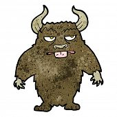 stock photo of minotaur  - cartoon minotaur - JPG