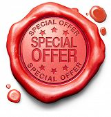 foto of promoter  - special offer hot sales promotion bargain webshop icon or online internet web shop stamp or label - JPG