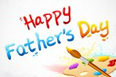 stock photo of bristle brush  - illustration of Happy Father - JPG