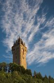 stock photo of william wallace  - The Wallace Monument occupies a commanding position atop Abbey Craig from where William Wallace led his people - JPG