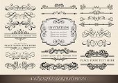 picture of divider  - Vector illustration of calligraphic elements and page decoration - JPG