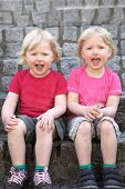Adorable Happy Identical Twins