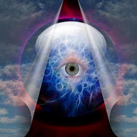 picture of freemasons  - Crystal Ball reveals eye - JPG