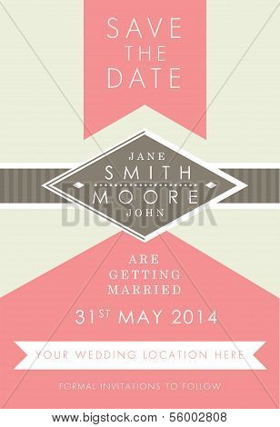 Save the date formal invitation