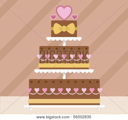 Chocolate tier wedding cake