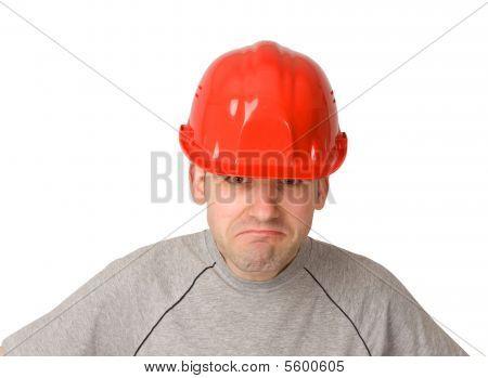 Trabajador infeliz y descontento