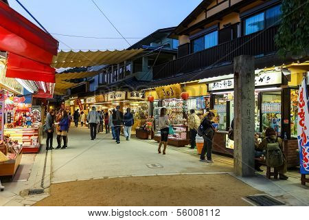 Omotesando Shopping street in Miyajima