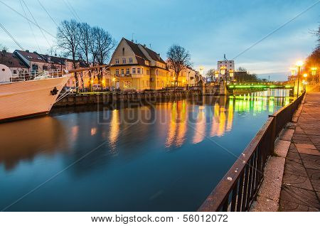 Dane Fluss in Klaipeda, Litauen