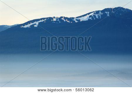 Grouse Mountain Dusk Fog, British Columbia