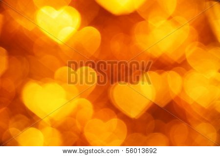 yellow hearts shape background