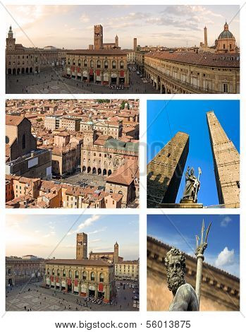 Collage aus Bologna Italien