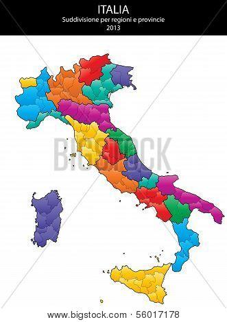 Italy Blank Map
