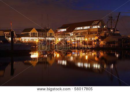 Steveston Village Waterfront Night