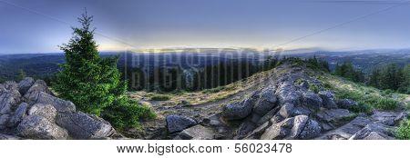 Hdr Panorama Of Mount Pisgah