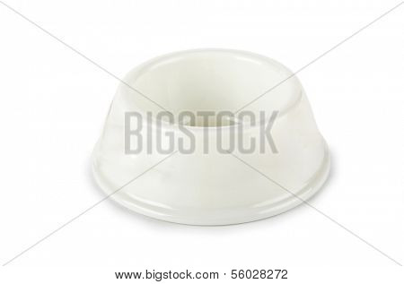 Pet bowl isolated on the white background