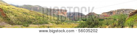 The Sentinel And Hotel In The Golden Gate Highlands National Park