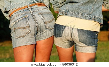 Two Females In Jeanswear