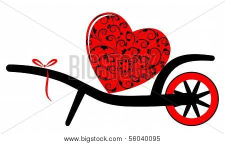 Wheel Barrow And Heart