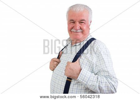 Jovial Confident Elderly Man