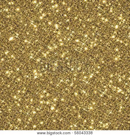 Gold glitter texture background.