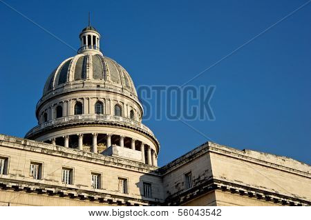 CUBA - DECEMBER 30: The National Capitol Building of Cuba in Havana, Cuba.