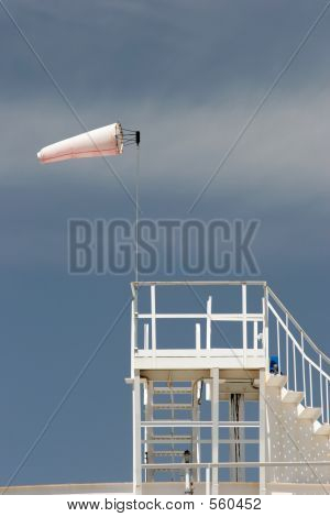 Wind Sock On Oil Storage Tank