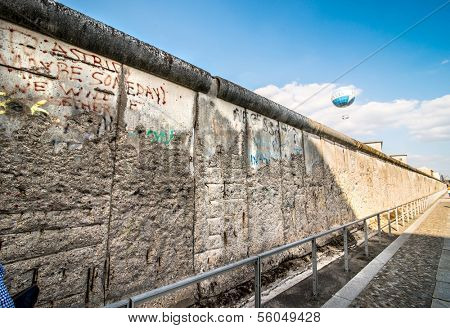 Remains of the Berlin Wall preserved along Bernauer Strasse.