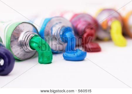 Colorful Paint Tubes