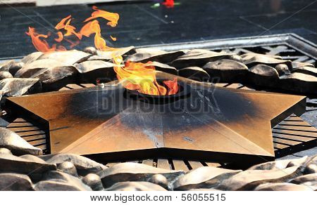 Eternal fire in Almaty