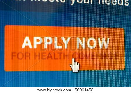 Boise,idaho/usa - December 21 2013: Mouse Pointer About To Click To Start The Application At Healthc