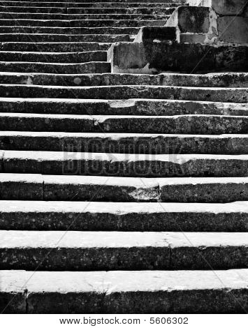Medieval Steps Abstract