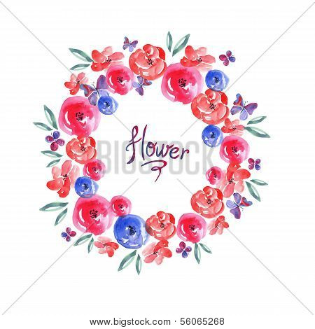 Floral Frame, Invitation Card Vignette