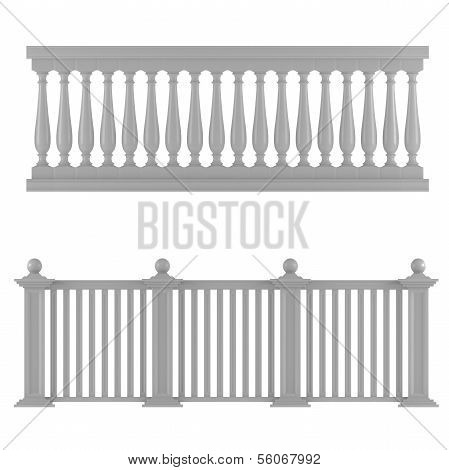 Classic balustrade isolated