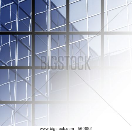 Blue Office With Grid