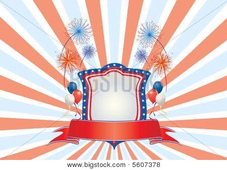 American Flag Shield
