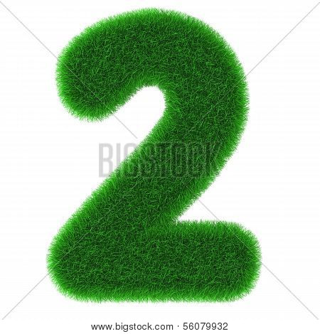 Number Two Made Of Grass