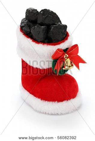 christmas present for bad boys and bad girls, christmas stocking full of coal