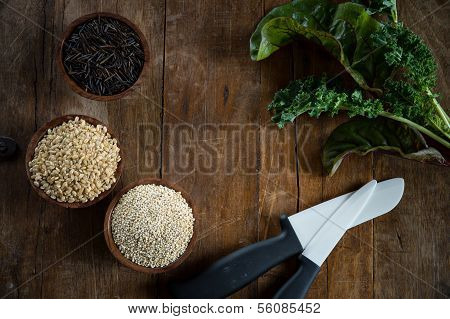 Brown Rice, Quinoa And Wild Rice