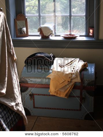 Colonial bedroom window