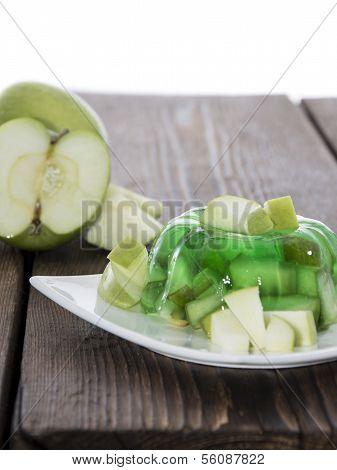 Apple Jello Isolated On White